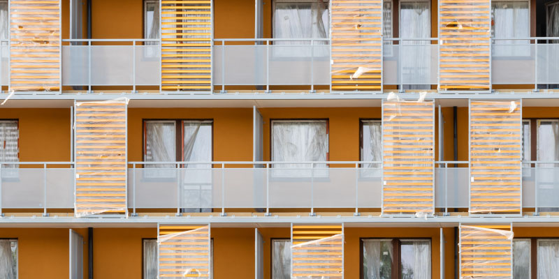黄色いマンション